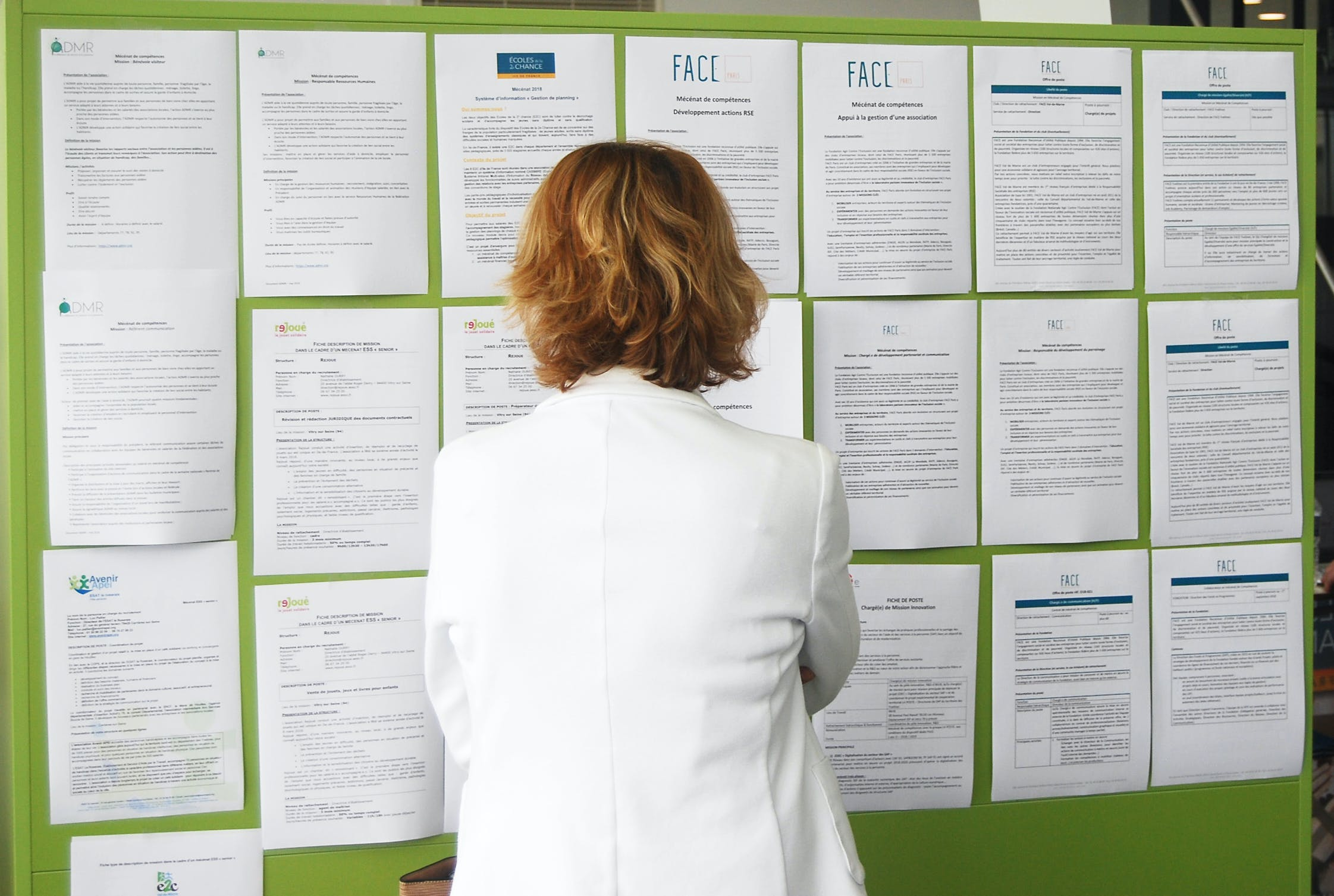 A candidate looking at job offers