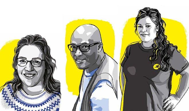 Nathalie, Alassane et Mélanie incarnent l'engagement de tous les postiers au cours d'une année 2020 sans précédent.