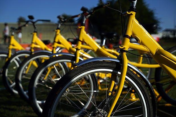 Photo des vélos à assistance électrique donnés par La Poste, donc de couleur jaune.