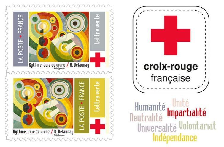 Carnet de 10 timbres-poste dédié à la Croix-Rouge française