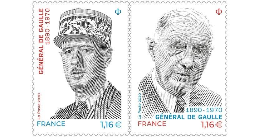 Général de Gaulle: un diptyque de timbres pour célébrer une année anniversaire