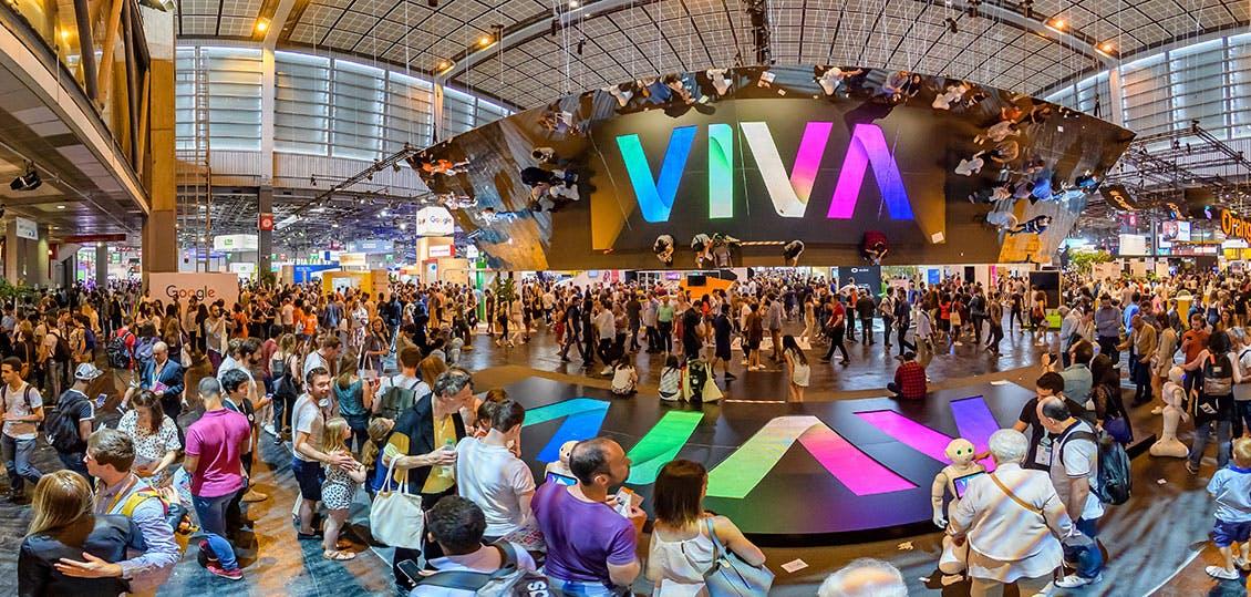 Photo panoramique du salon VivaTech 2018
