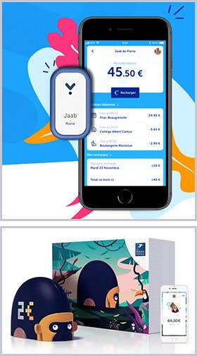 La Poste's applications and connected objects: the Jaab application et the  Monimalz connected to