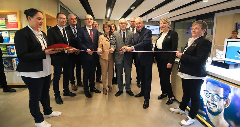 Inauguration du bureau de poste de Rouen préfecture en présence de Philippe Wahl, Président-directeur général du Groupe La Poste