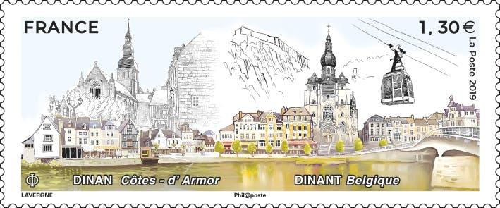 Le timbre Dinan - Dinant