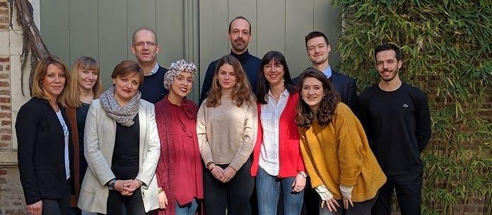 L'équipe de Newcard, start-up lilloise spécialisée dans la télésurveillance des pathologies chroniques