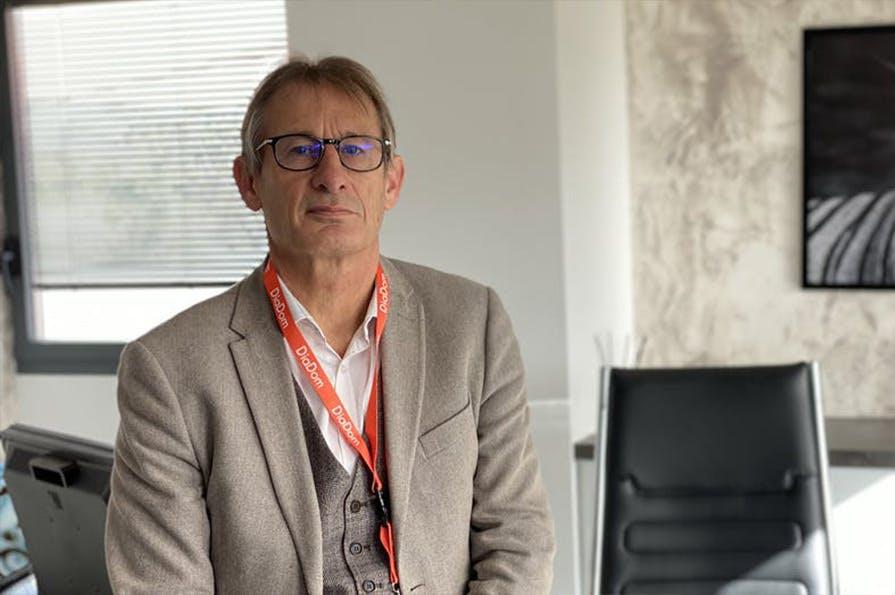 Bruno Méline, dirigeant et co-fondateur de Diadom, au sein de ses locaux