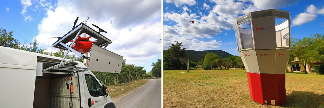 drone delivery line in France's Var department