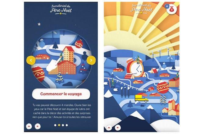 captures du site internet du Père Noël