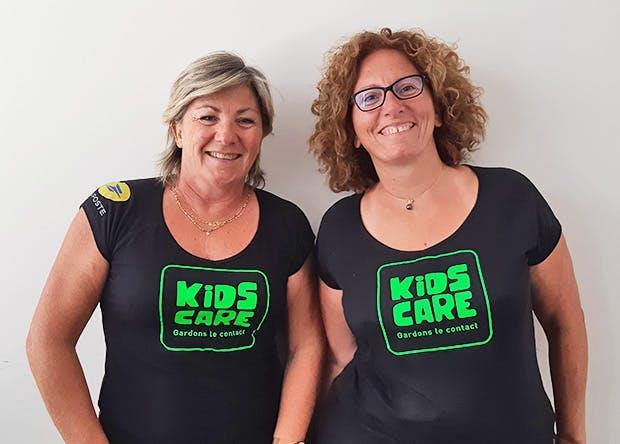 Isabelle Legrand et Sandra Beraudo, fondatrices de KidsCare : une start-up issue du programme d'intrapreneuriat du Groupe La Poste.