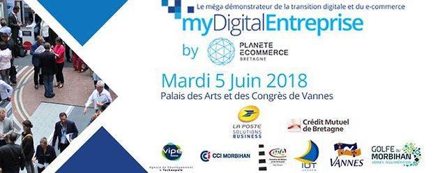 Salon myDigital Entreprise au Palais des Arts et des congrès à Vannes