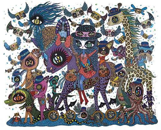 L'artiste Ciou et son univers fantasmagorique seront tout particulièrement mis à l'honneur, le Musée de La Poste lui ayant commandé une fresque