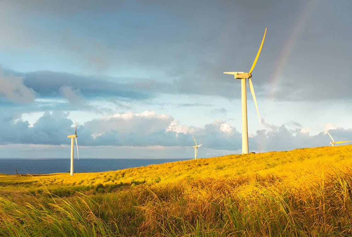 In India with the development of wind farms as an alternative to coal.