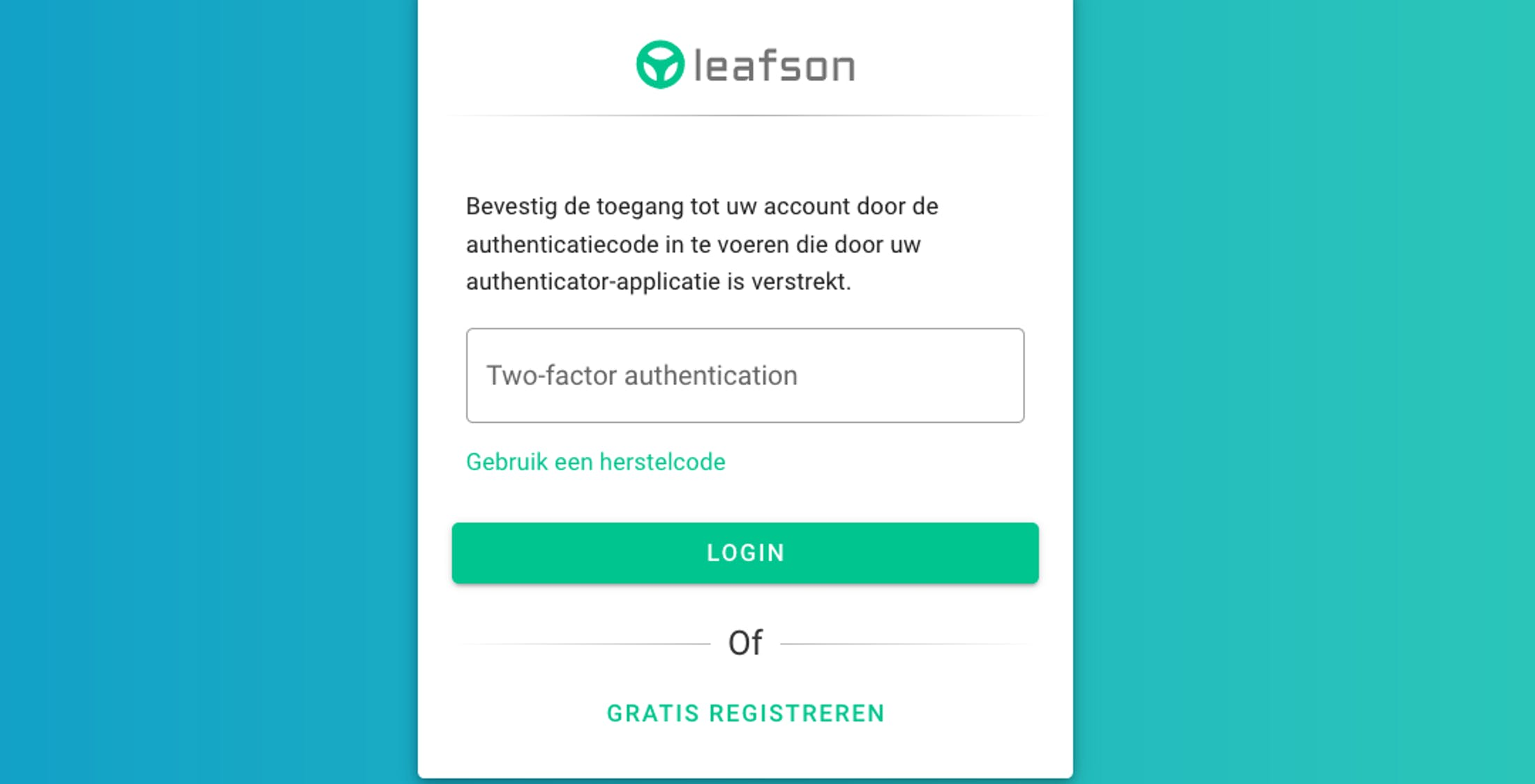 Twee-factor-authenticatie login