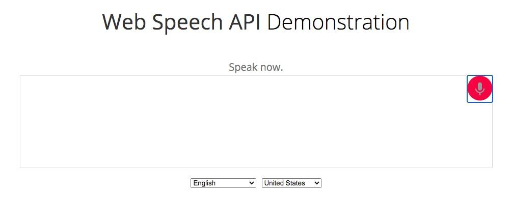 Web Speech API demo by Google