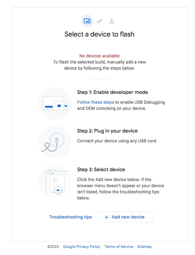 Android FLash tool-Web USB