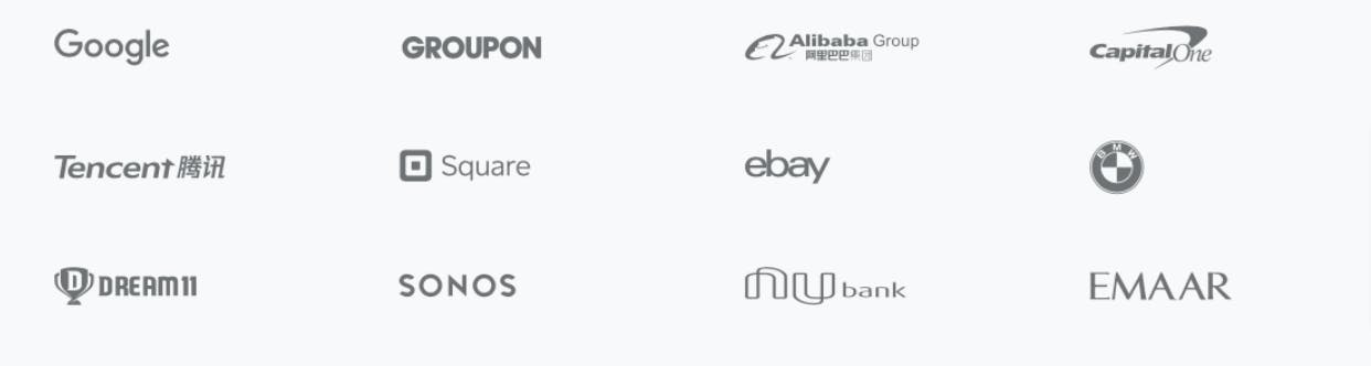 Examples of enterprises building the app using Flutter