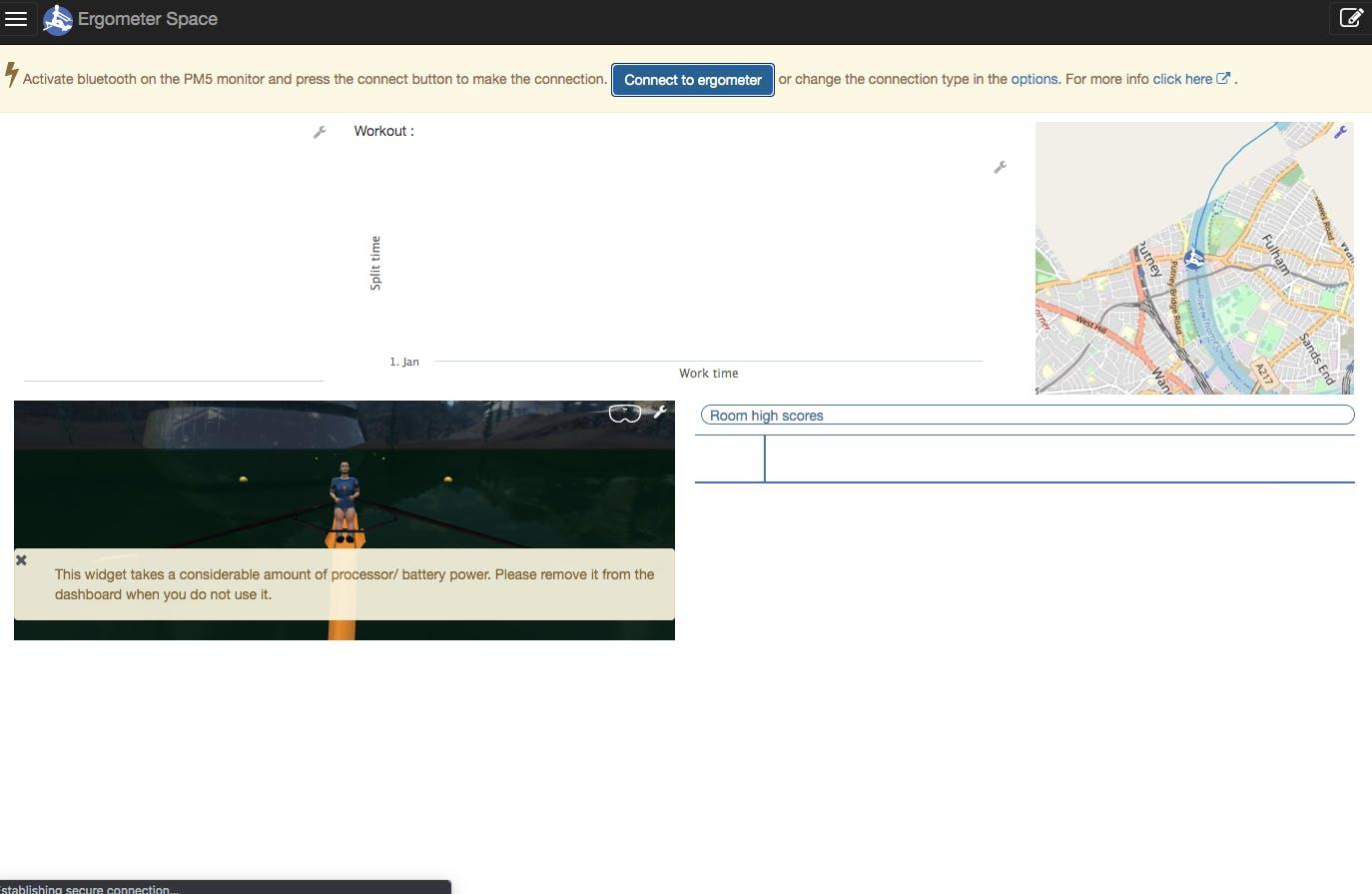 Ergometer Space app