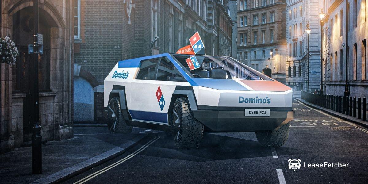 Dominoes Cybertruck design render