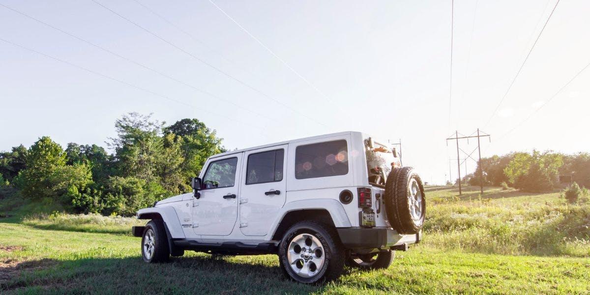 White Jeep Wrangler SUV