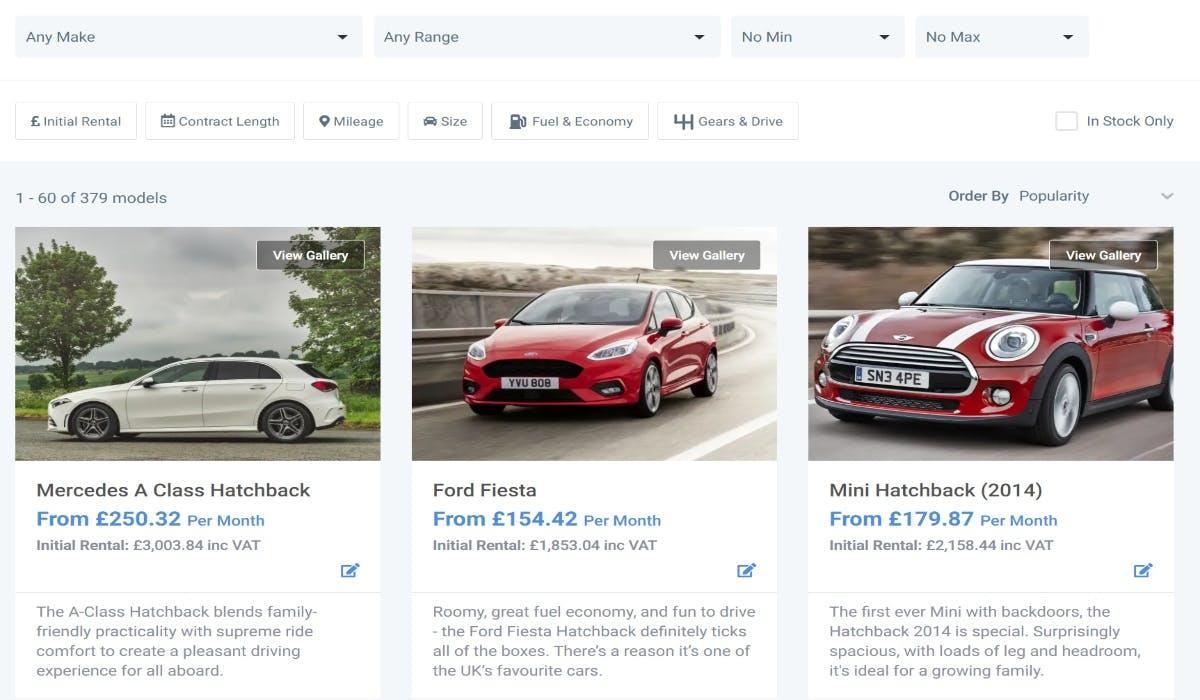 car lease comparison site