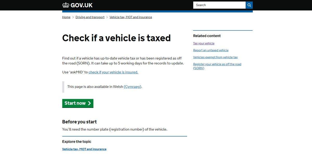 lease car road tax