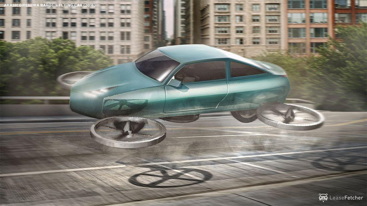 Akash Girendra Barot's flying car - 2016