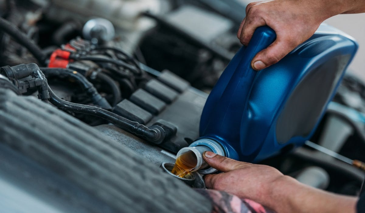 oil change in car