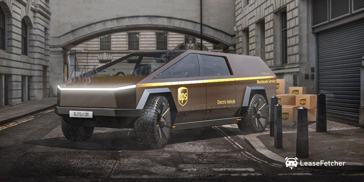 UPS Cybertruck design render