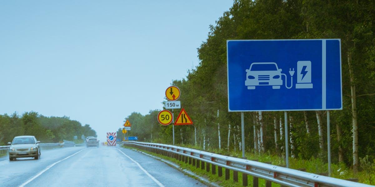 electric car recharging lane