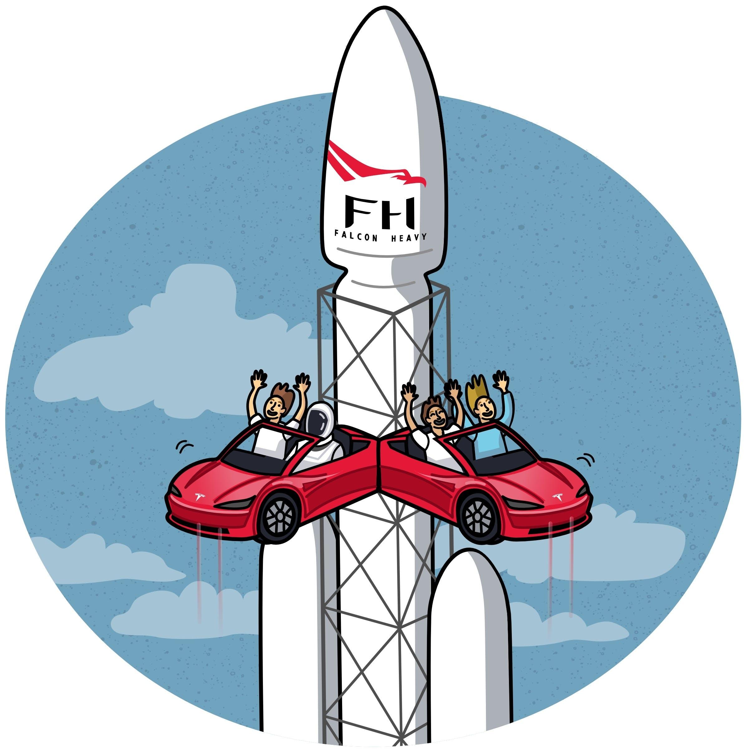 spacex rocket lanuch slingshot ride