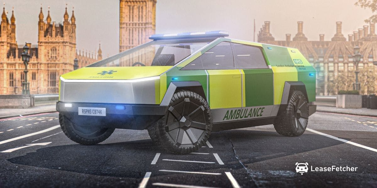 Ambulance Cybertruck design render