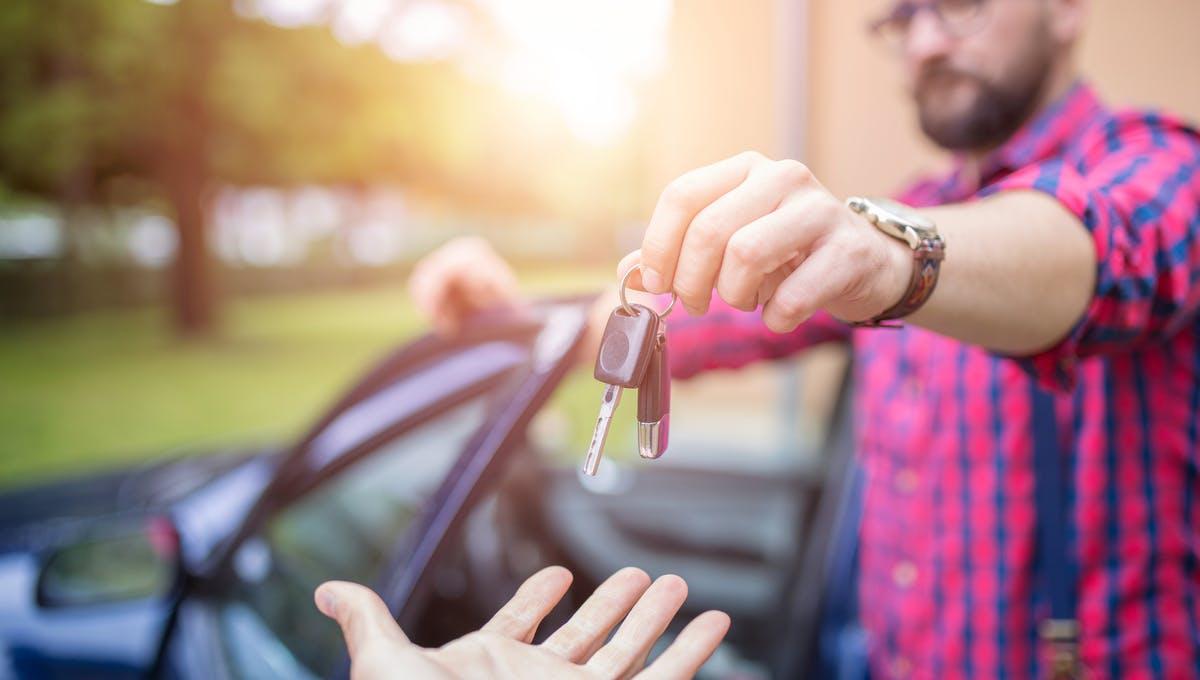 handing a lease car back