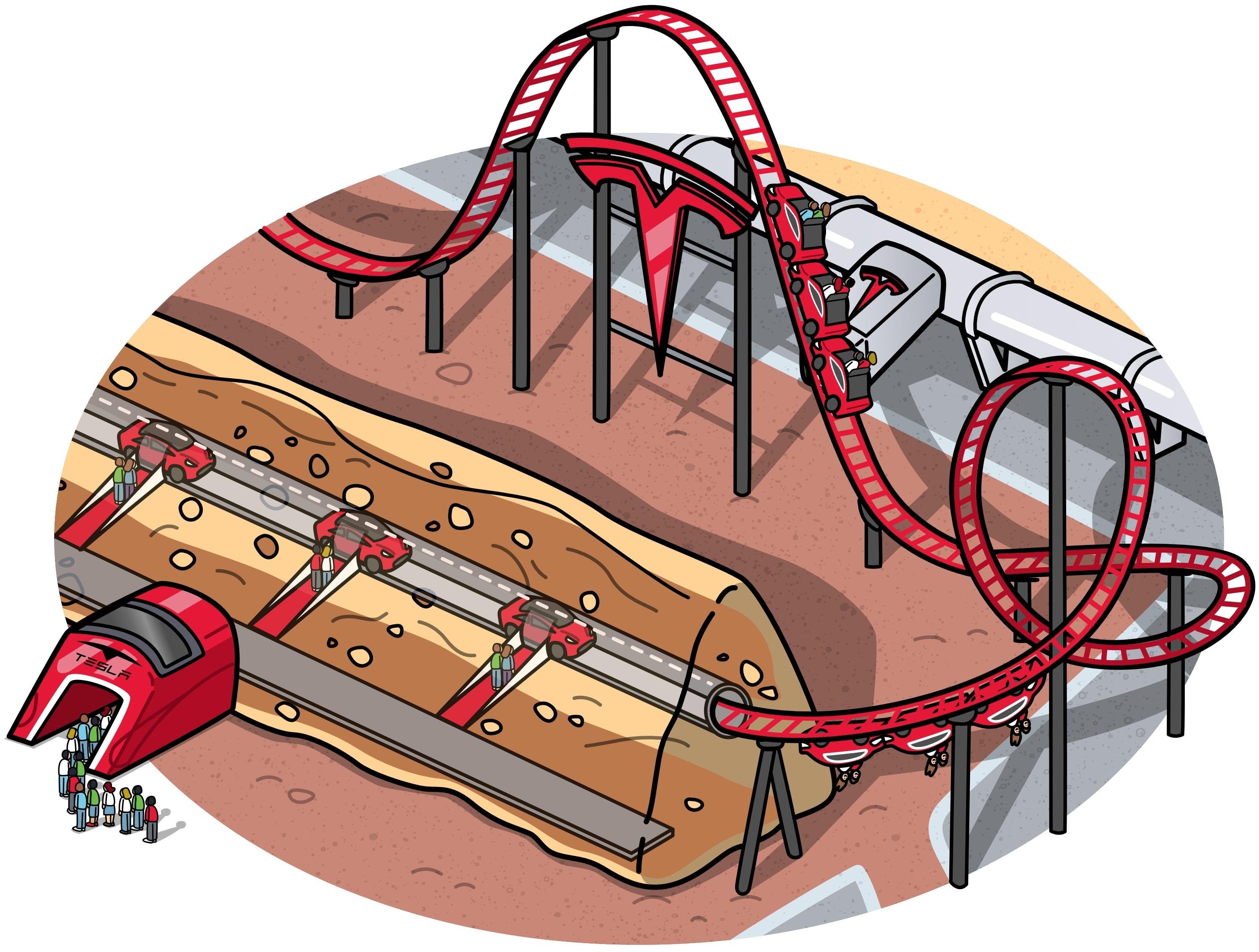 underground tunnel roller coaster