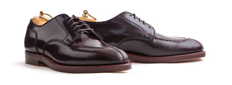 A pair of color 8 shell cordovan NST bluchers.