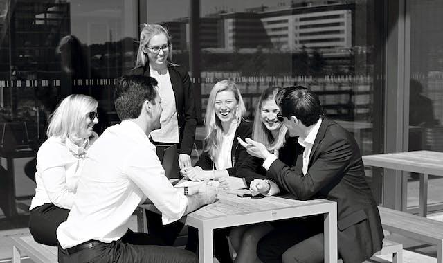 Gute Laune im Leitwerk Consulting Team
