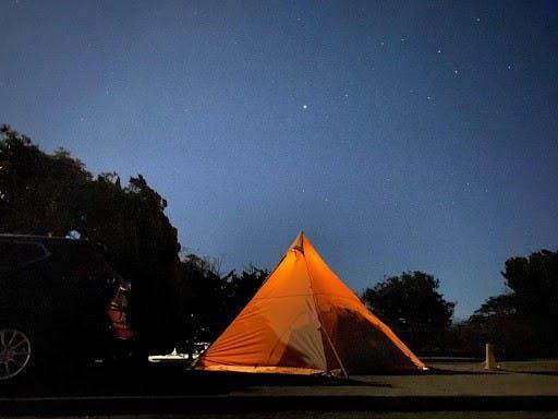 夜は満点の星空が楽しめます。