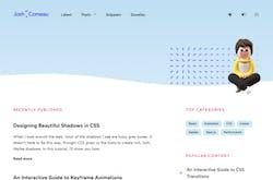 A screenshot of Josh W. Comeau's website.