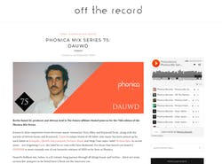 Off The Record is a mix series by the London based Phonica Records shop