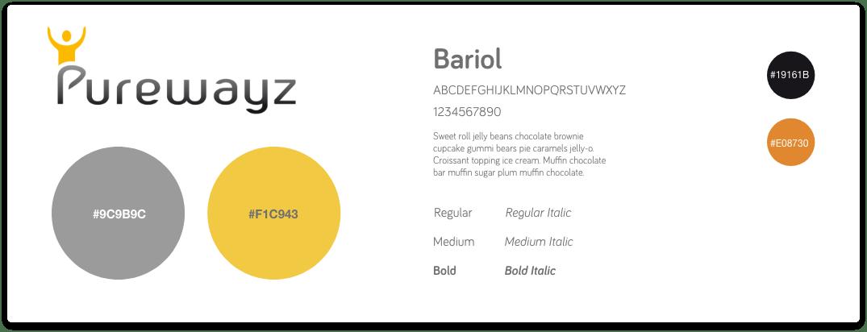 Charte de couleurs Purewayz (site)