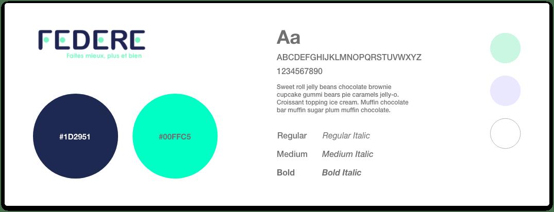 Charte de couleurs Federe