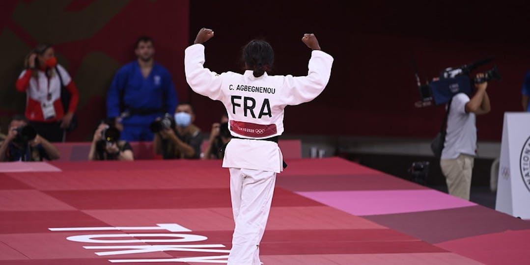 Clarisse Agbégnénou obtient sa seconde médaille d'or de ces jeux Olympiques de Tokyo (crédit photo : CNOSF/KMPS)