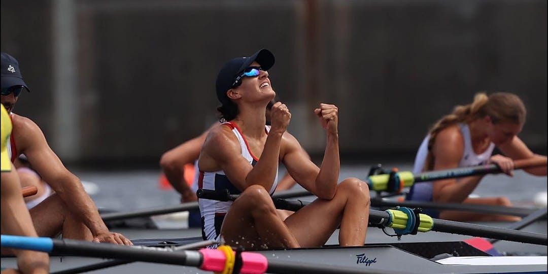 Margot Boulet laisse éclater sa joie sur la ligne d'arrivée (crédit photo : France paralympiques)