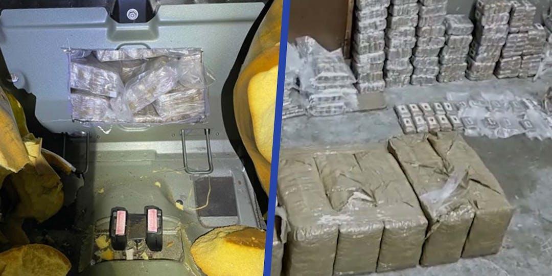 Fruit de la collaboration entre les autorités françaises et espagnoles, l'opération de démantèlement a permis la saisie d'une importante quantité de stupéfiants. (Photos: Police espagnole)