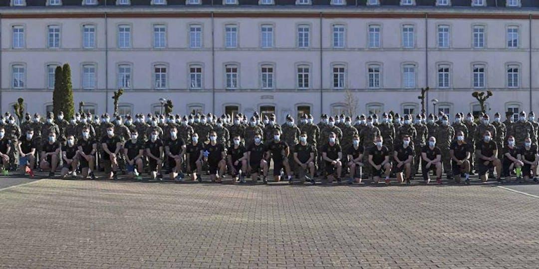 Une promotion d'élèves-gendarmes de l'Ecole de Gendarmerie de Chaumont (Photo: EG Chaumont)