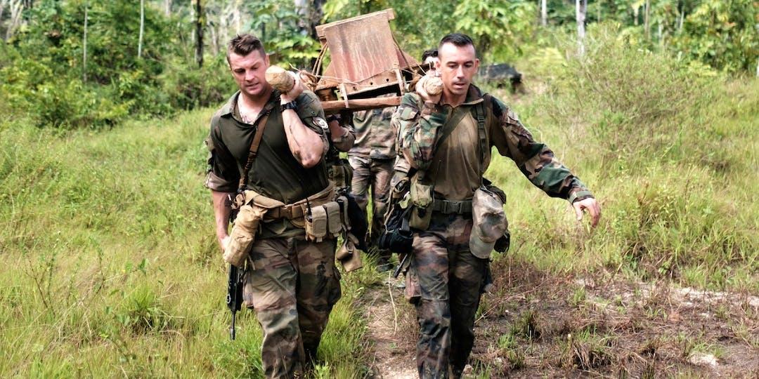 Des gendarmes en mission de lutte contre l'orpaillage illégal en Guyane. (Archives)
