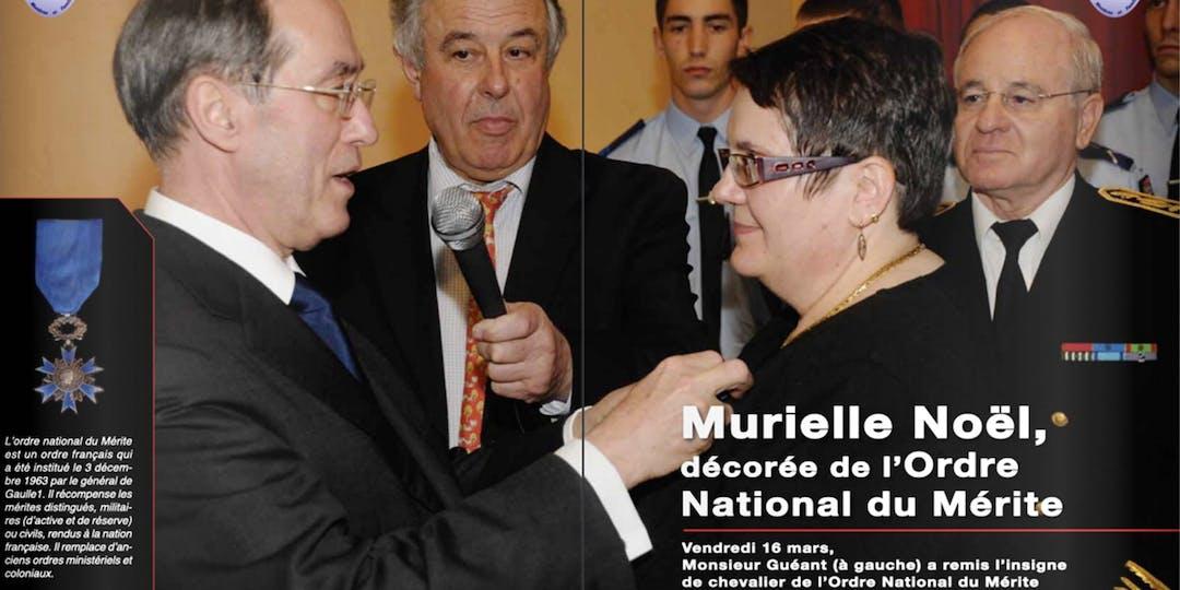 Extrait du bulletin de l'association d'aide aux membres et familles de la Gendarmerie qui rapportait, en 2012, la décoration de Murielle Noël.