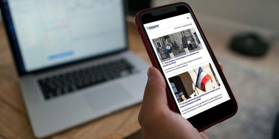 La nouvelle version du site internet de L'Essor est particulièrement adaptée à la lecture sur mobile qui représente aujourd'hui près de 80% des visites. (Illustration: LP/L'Essor)