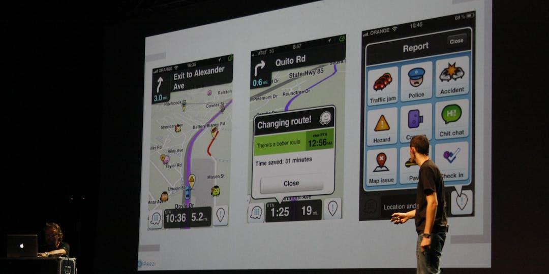 Présentation de l'application d'aide à la navigation Waze (Photo: Flickr).