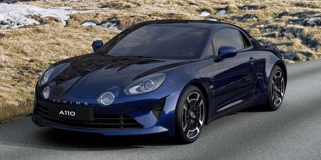L'Alpine A110 en version bleu abysse, visible depuis le configurateur en ligne proposé par Alpine Cars. (Capture d'écran - Alpine Cars)